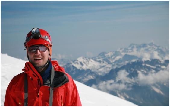 Paweł Schmidt na Mont Blanc