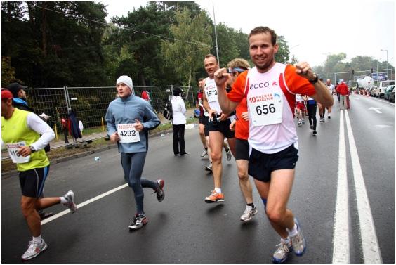 Paweł Schmidt na maratonie w Poznaniu
