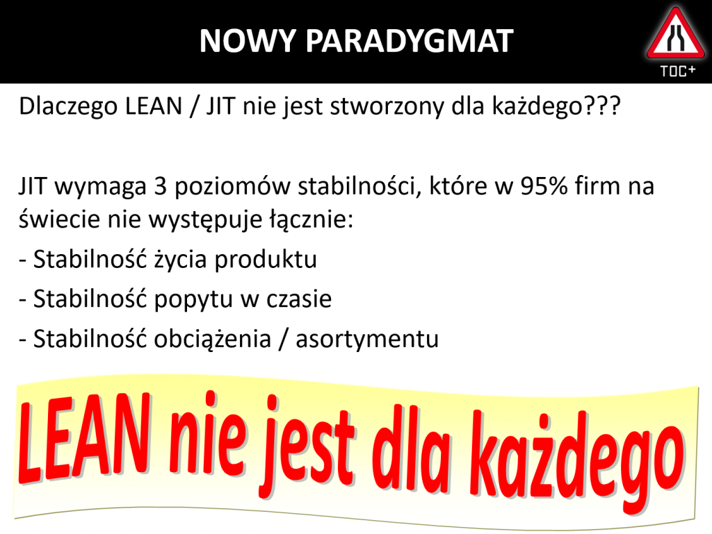 Dlaczego LEAN nie jest dla każdego