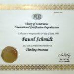 Paweł Schmidt - Certyfikat TOCICO Narzędzi Logicznego Myślenia (2013)
