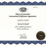 Paweł Schmidt - Certyfikat TOCICO Rachunkowość Przerobowa TOC (2008)