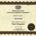 Paweł Schmidt - Certyfikat TOCICO Zarządzanie Projektami - Łańcuch Krytyczny TOC (2007)
